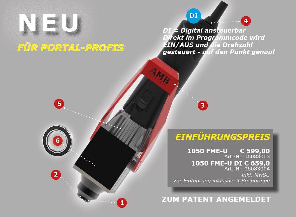 Neues Modell 1050 Überwurfmutter Kress FM E